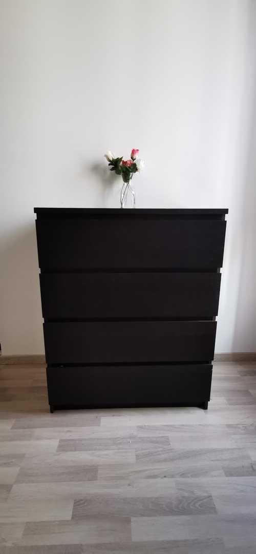 Commode Ikea 4 tiroirs noir