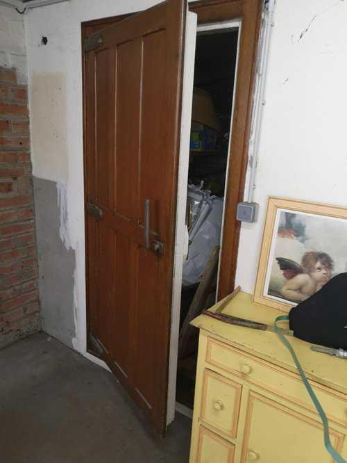 2 portes en chêne de chambre froide
