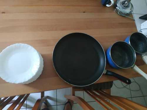 Petites assiettes / poêle / petites casseroles