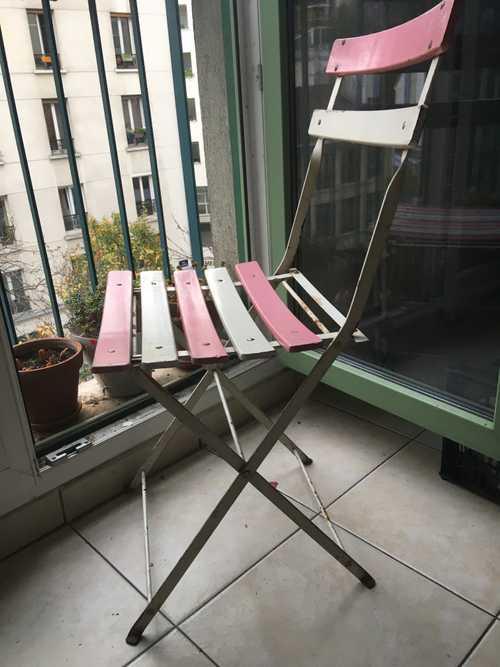 4 chaises de jardin vintage