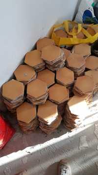 Carrelage tomette Briare orange