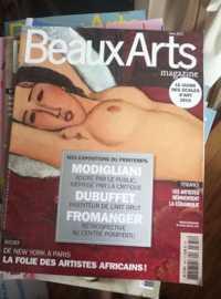 Lot 34 magazines sur l'art