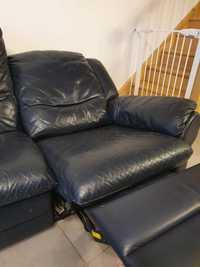 Canapé cuir avec relax à gauche