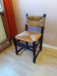 Chaise bois et paille